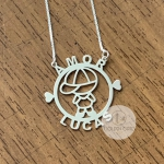 Colar Mandala Personalizada Externa Desenho Menina ou Menino em Prata 925