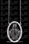 Colar Com Pingente Nossa Senhora das Graças em Prata 925