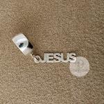Berloque Jesus em Prata 925