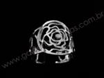 Anel Rosa em Prata 925
