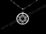 Pingente Estrela de Davi com Aro em Prata 925 PPI04027