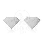 Brinco Diamante Gravado em Prata 925