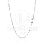 Corrente Masculina Cartier Pequena Modelo Italiano em Prata 925