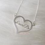 Colar Personalizado Coração com Nome em Prata 925