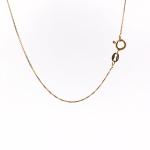 Corrente Veneziana 45cm em Prata 925 Banho de Ouro
