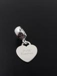 Berloque Coração Personalizado em Prata 925