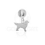 Berloque Cachorro Golden Retriever em Prata 925
