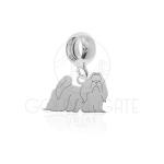 Berloque Cachorro Shih Tzu em Prata 925 PAS10513