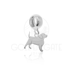 Berloque Cachorro Beagle em Prata 925