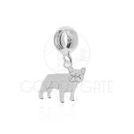 Berloque Cachorro Bulldog Francês em Prata 925