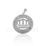 Pingente Nascimento Modelo Coroa em Prata 925