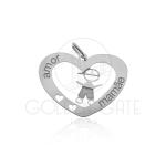 Pingente Coração com Menino em Prata 925 PPI00117