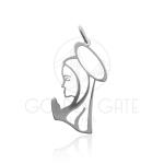 Pingente Ave Maria em Prata 925