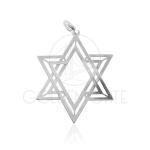 Pingente Estrela de Davi Vazada em Prata 925