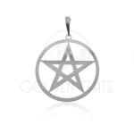 Pingente Estrela de Salomão com Aro em Prata 925