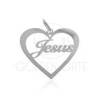 Pingente Coração Jesus em Prata 925 PPI05004