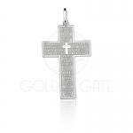 Pingente Cruz Pai Nosso em Prata 925