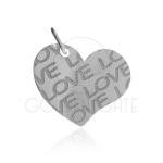 Pingente Coração Love em Prata 925