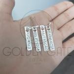 Pingente Plaquinha Personalizada em Prata 925