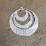 Pingente Mandala com Nome 3 Elos em Prata 925