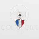 Berloque Bandeira França em Prata 925