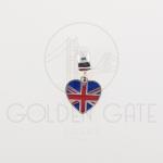 Berloque Bandeira Inglaterra em Prata 925