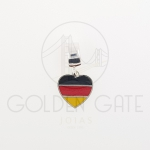 Berloque Bandeira Alemanha em Prata 925
