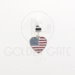 Berloque Bandeira Estados Unidos em Prata 925