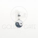 Berloque Colorido Yin Yang em Prata 925