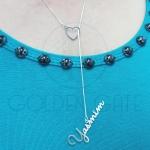 Colar Gravatinha Personalizado com Coração em Prata 925