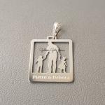 Pingente Pai E Filhos em Prata 925